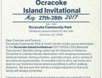 Ocracoke Community Park & Youth Center will be hosting a USSSA Baseball Tournament