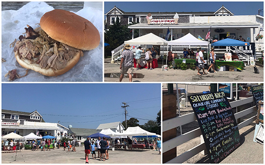 Vendors, Music & Food at the Community Square During the 2017 Ocracoke Fig Festival
