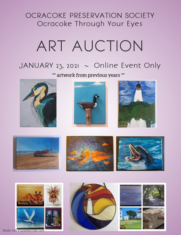Ocracoke Preservation Society's annual Ocracoke Through Your Eyes Art Auction