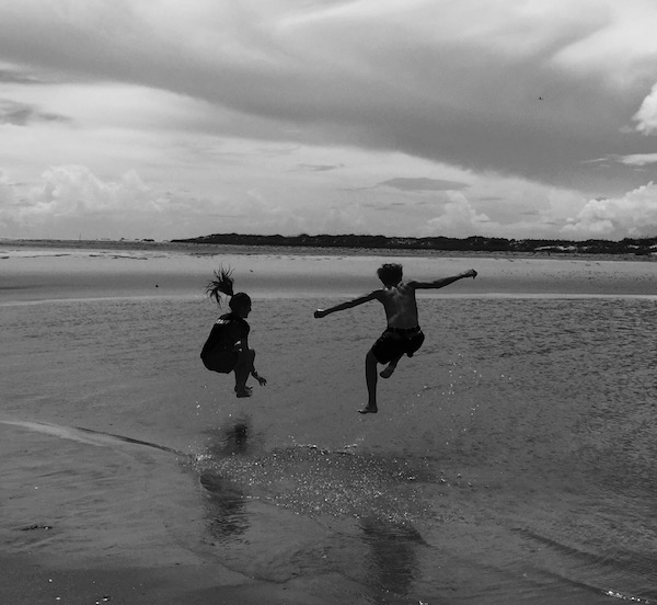 Kids Playing on the Beaches of Ocracoke Island