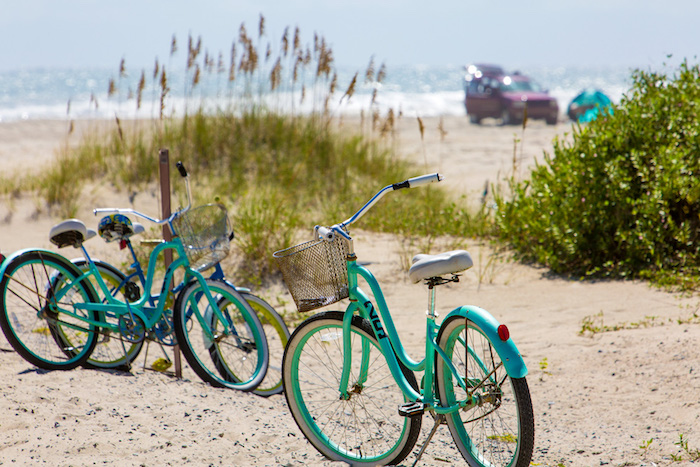 Ocracoke Bikes on the Beach