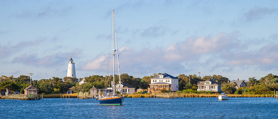 Ocracoke Island Silver Lake Harbor in the Fall