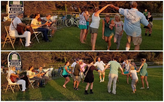 Square Dancing at the Ocracoke Preservation Society's Museum for the 2017 Fig Festival